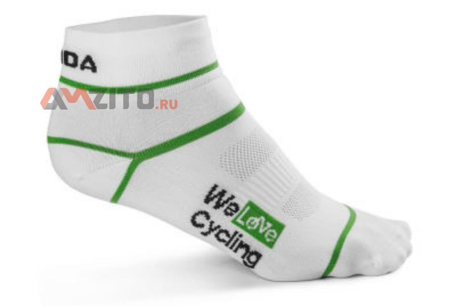 Носки унисекс Skoda Sport Socks We Love Cycling White