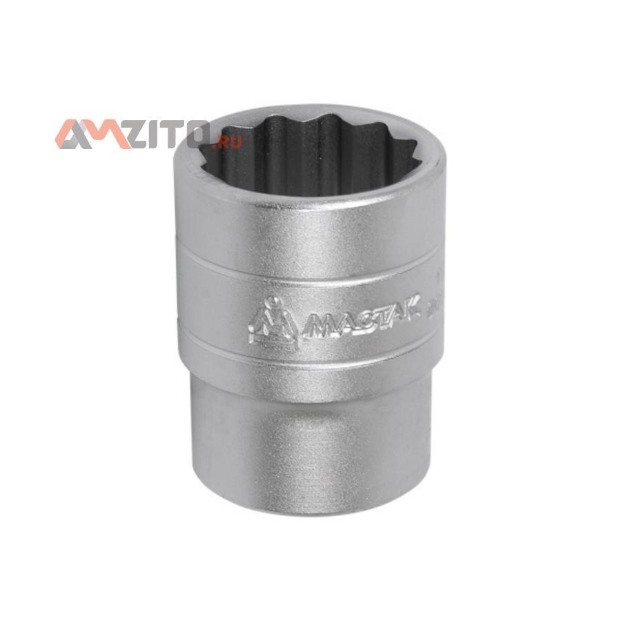 """Головка торцевая стандартная двенадцатигранная 1/2"""", 22 мм МАСТАК 000-42022"""
