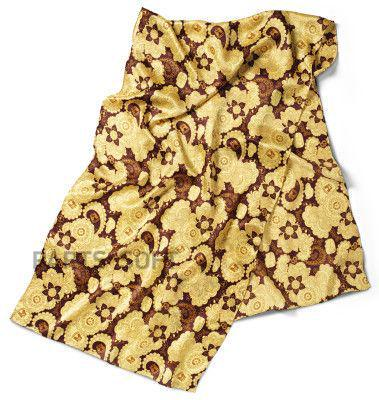 Шейный платок Volkswagen Ladies Silk Scarf Yellow Brown