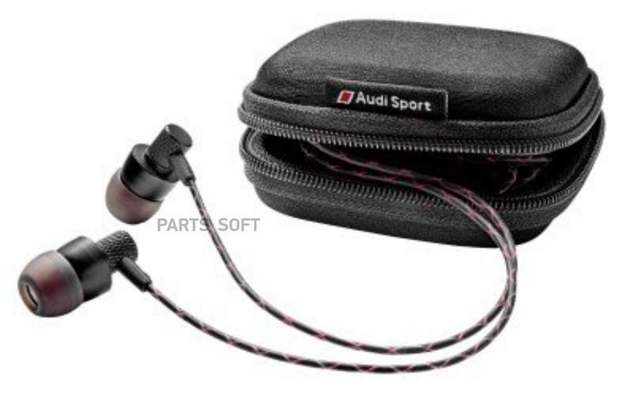 Наушники петельки Audi Sport In Ear Plugs Black/Red