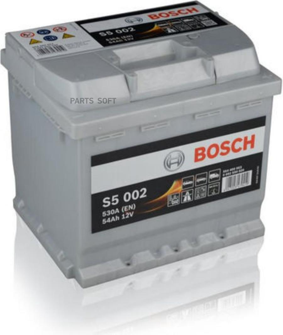 Аккумулятор Силвер плюс 12V 54Ah 530A   207x175x190  / -+/     (Длина x Ширина x Вы