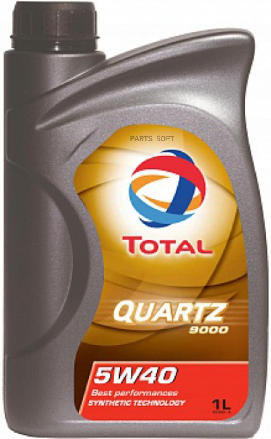 Масло моторное синтетическое QUARTZ 9000 5W-40, 1л