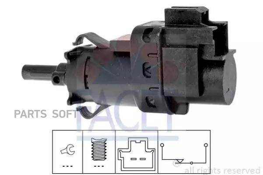 Выключатель фонаря сигнала торможения; Выключатель, привод сцепления (Tempomat)