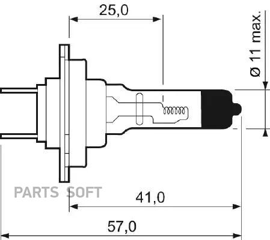Лампа H7 12V 55W PX26D +50% Light