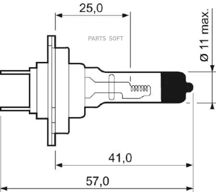 Лампа Н7 12х55 рx26d