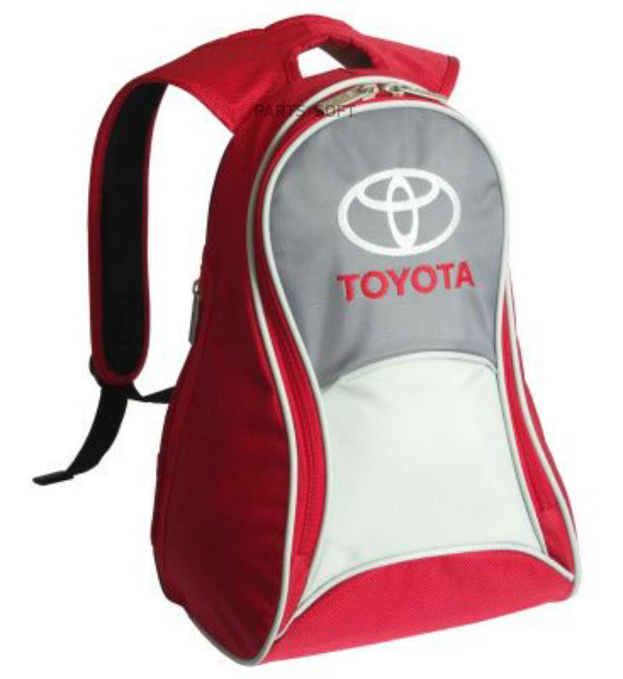 Рюкзак Toyota Slim Backpack Red-Grey