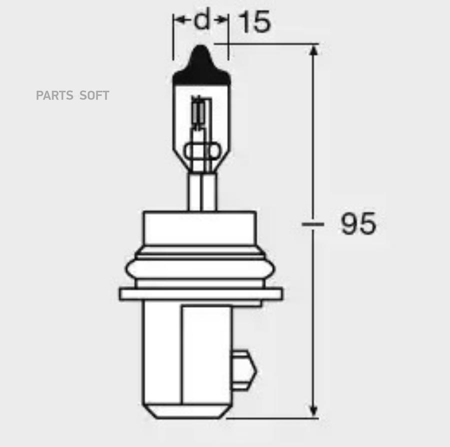 Лампа галогенная HB5 12V 65/55W PX29T (VL-HB5-01)