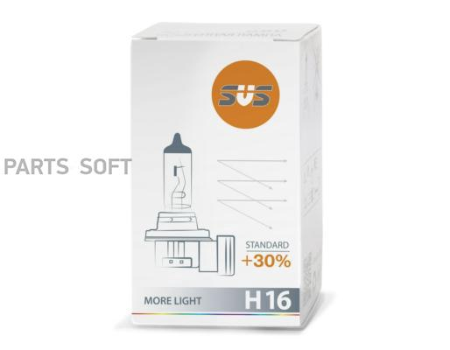 Лампа галоген Standard +30% H16 12В 19Вт