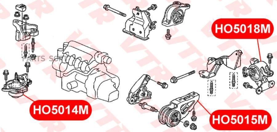 Подушка двигателя, передняя, справа
