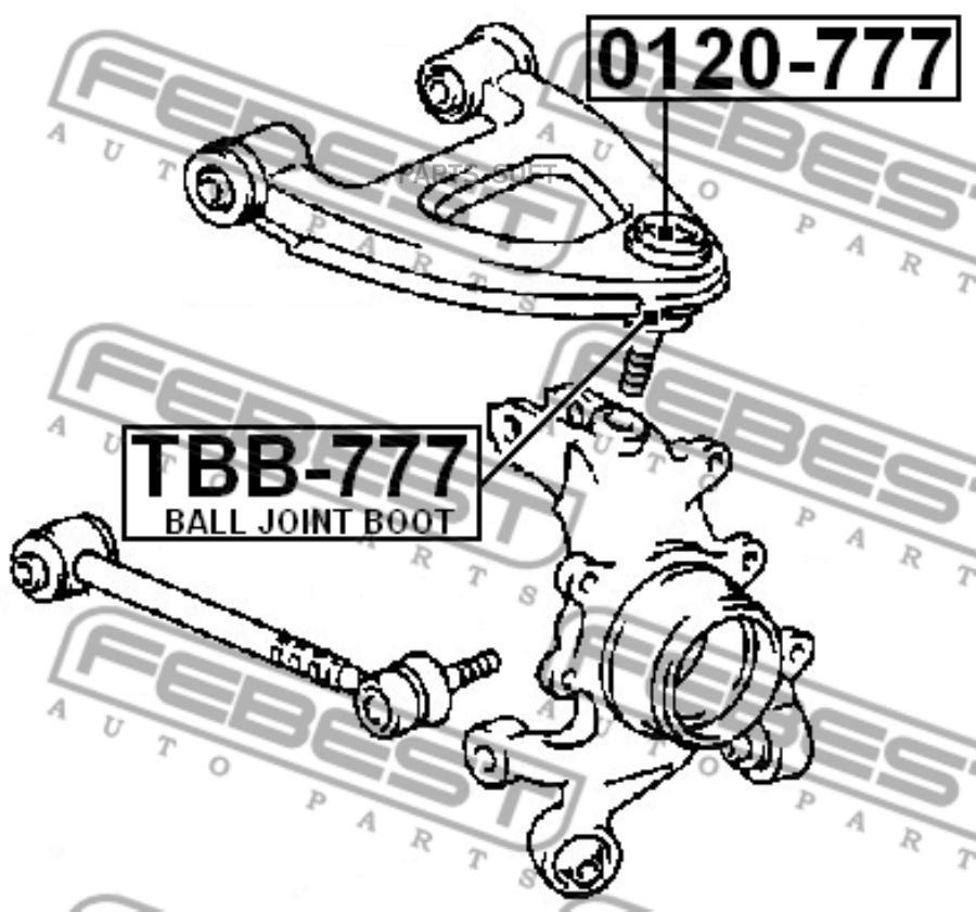 Шаровая опора FEBEST 0120-777  RR/RH=LH(верх. MARK2 92-06)