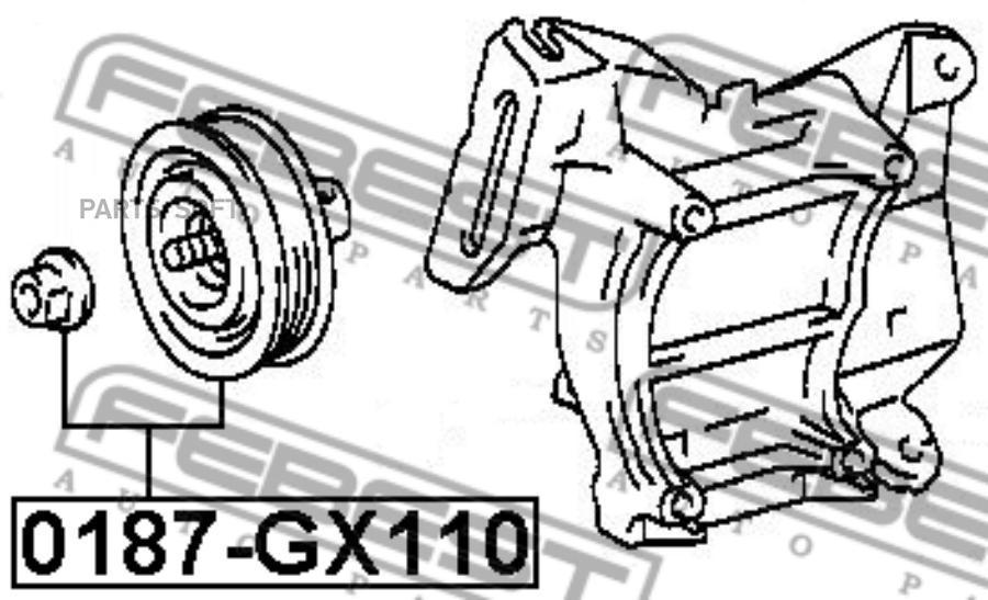 Ролик натяжной FEBEST 0187-GX110 (88440-20170)