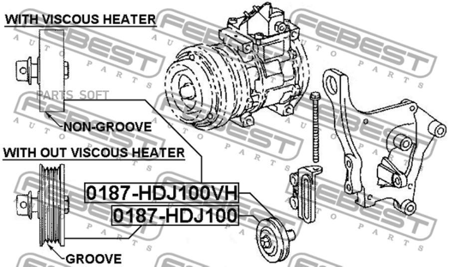 Ролик натяжной ручейковый FEBEST 0187-HDJ100