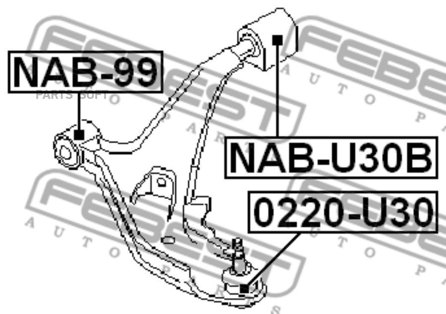 Шаровая опора FEBEST 0220-U30 (54500-AD067)