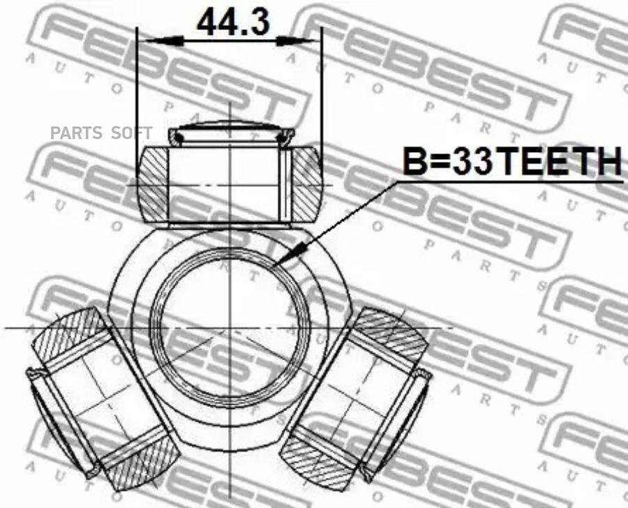 Шрус FEBEST 0216-J10 (трипоид)