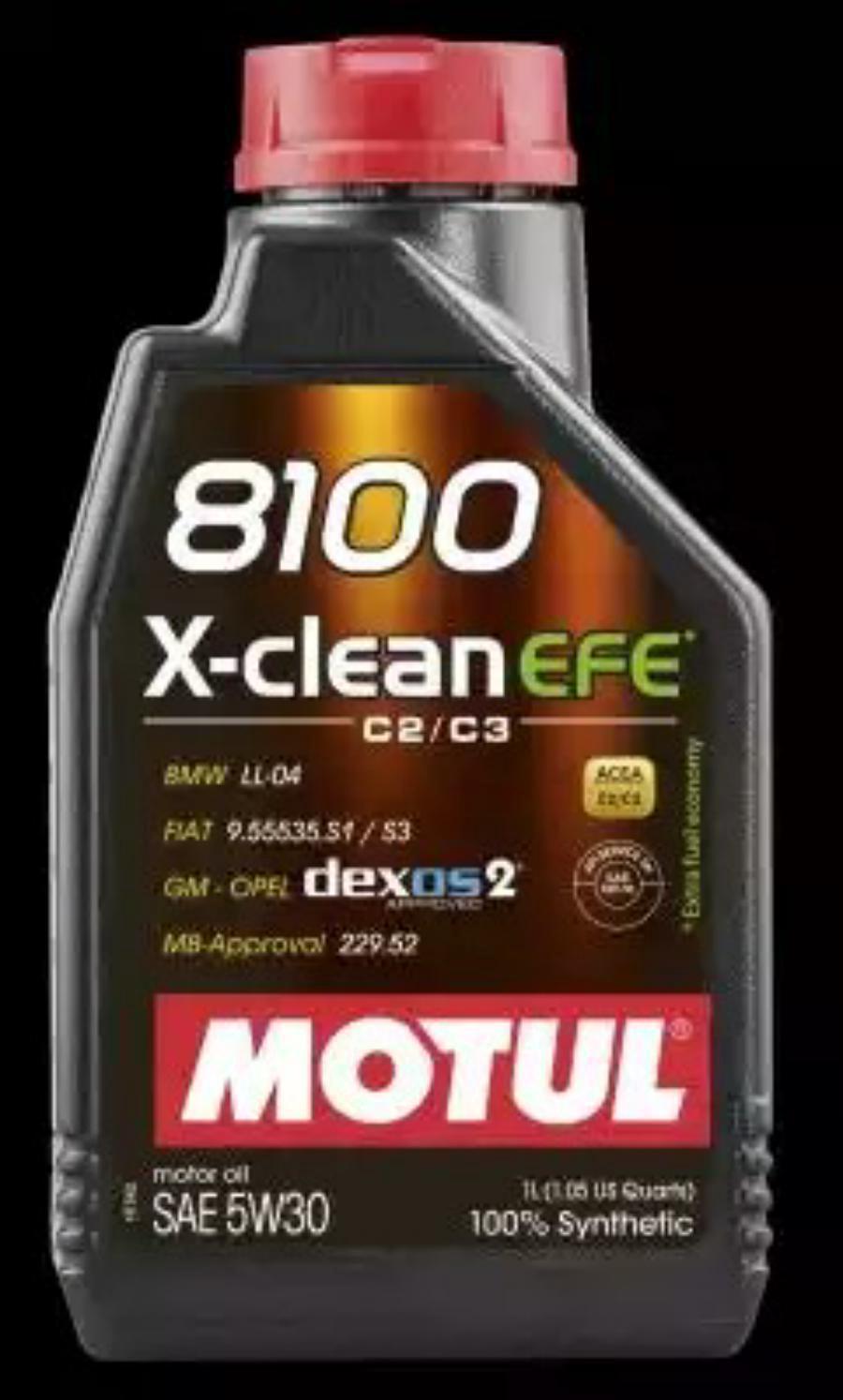 MOTUL 5W30 8100 X-Clean  EFE , 1л. 107210
