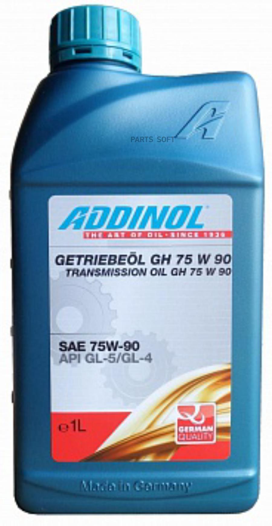 Масло трансмиссионное синтетическое Getriebeol GH 75W-90, 1л