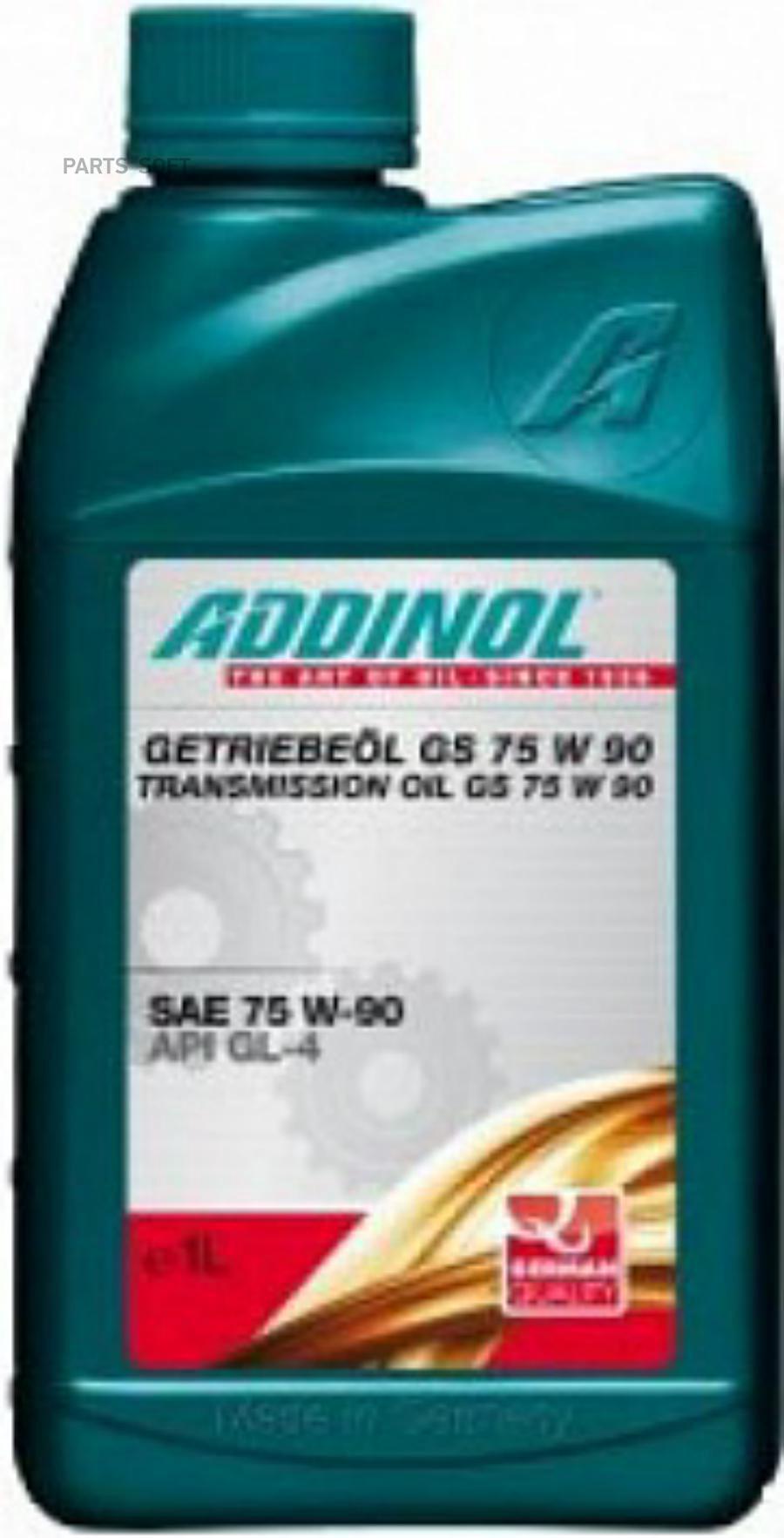 Масло трансмиссионное полусинтетическое Getriebeol GS 75W-90, 1л