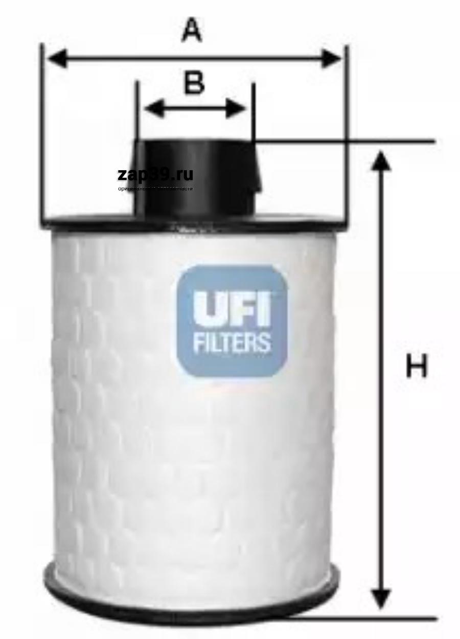 Топливный фильтр UFI 60H2O00