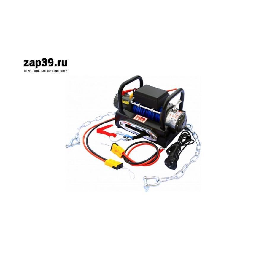 Лебёдка переносная РИФ 9000S c площадкой на цепях и проводами (в сборе) синтетический трос