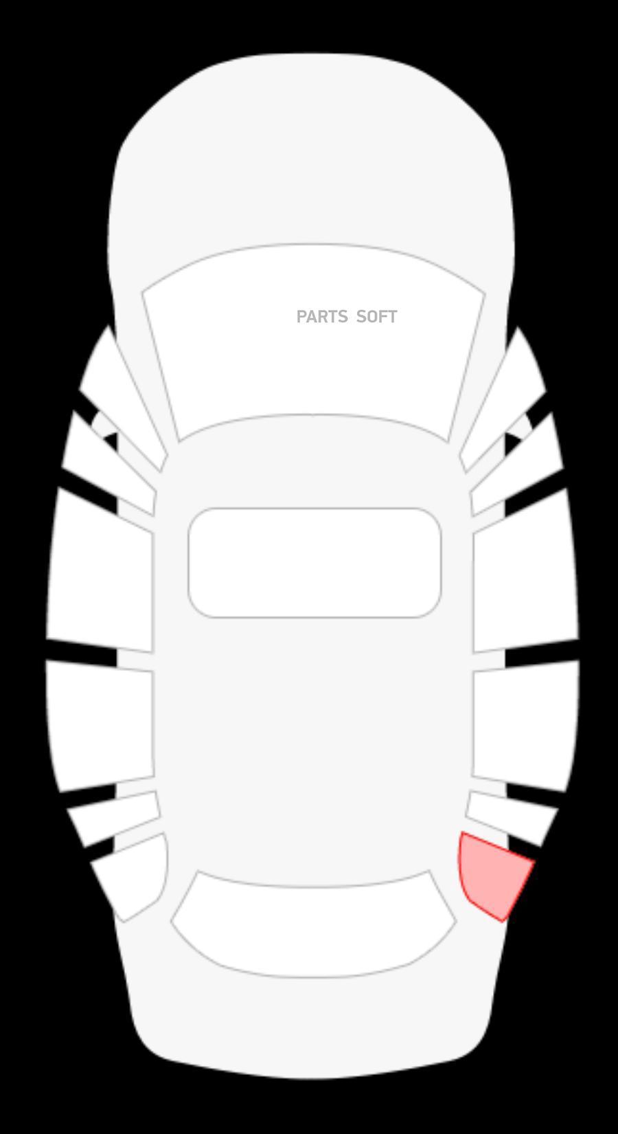 Стекло боковое неподвижное (форточка) правой стороны