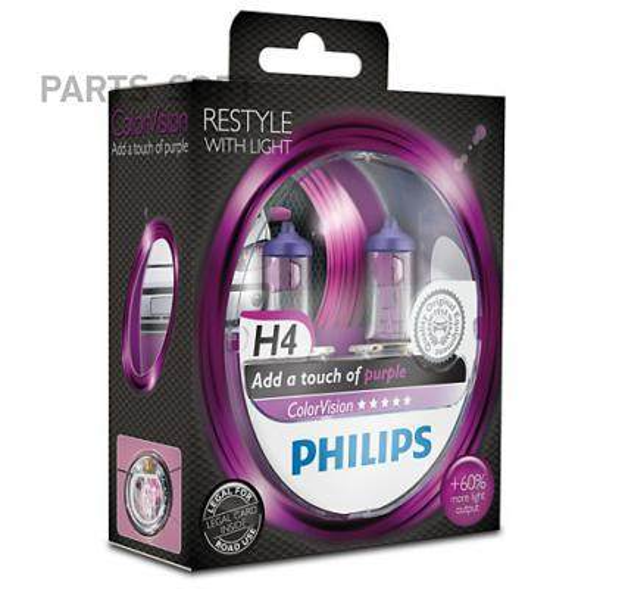 Лампа галоген ColorVision H4 12В 60/55Вт
