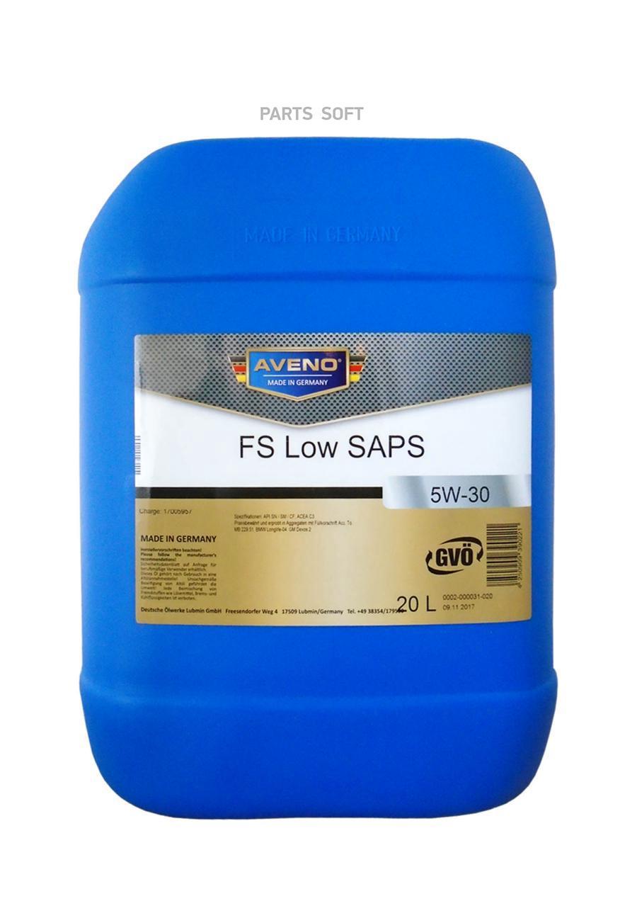 Масло моторное синтетическое Full Synth Low SAPS 5W-30, 20л