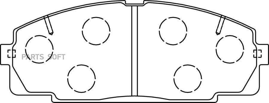 Тормозные колодки дисковые передние TOYOTA Hiace '95~06