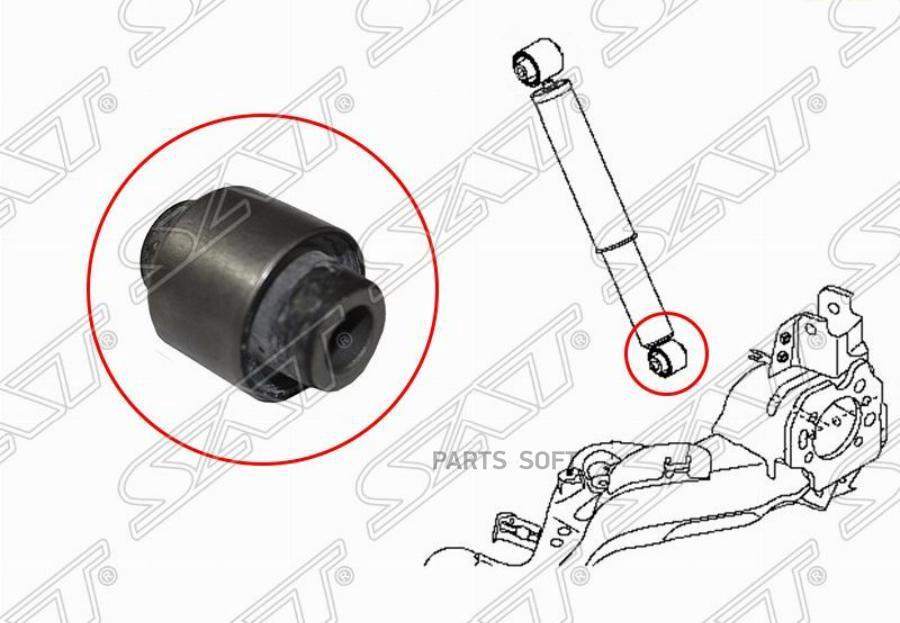Сайлентблок заднего амортизатора нижний NISSAN X-TRAIL T31 07-13 / QASHQAI+2 08-13 / RENAULT KALEOS 08