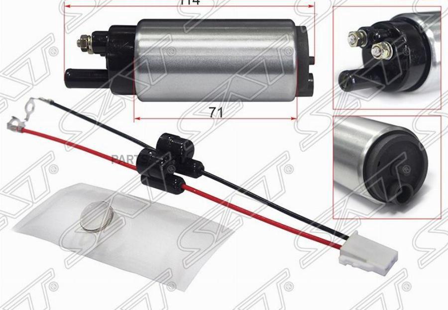 Топливный наcос 12V, 3BAR, 90L / H, V=1600