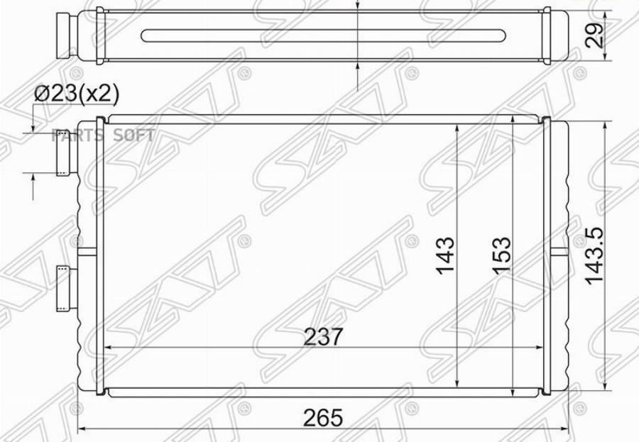 Радиатор отопителя салона MITSUBISHI LANCER X 07- / OUTLANDER 07- / ASX 10