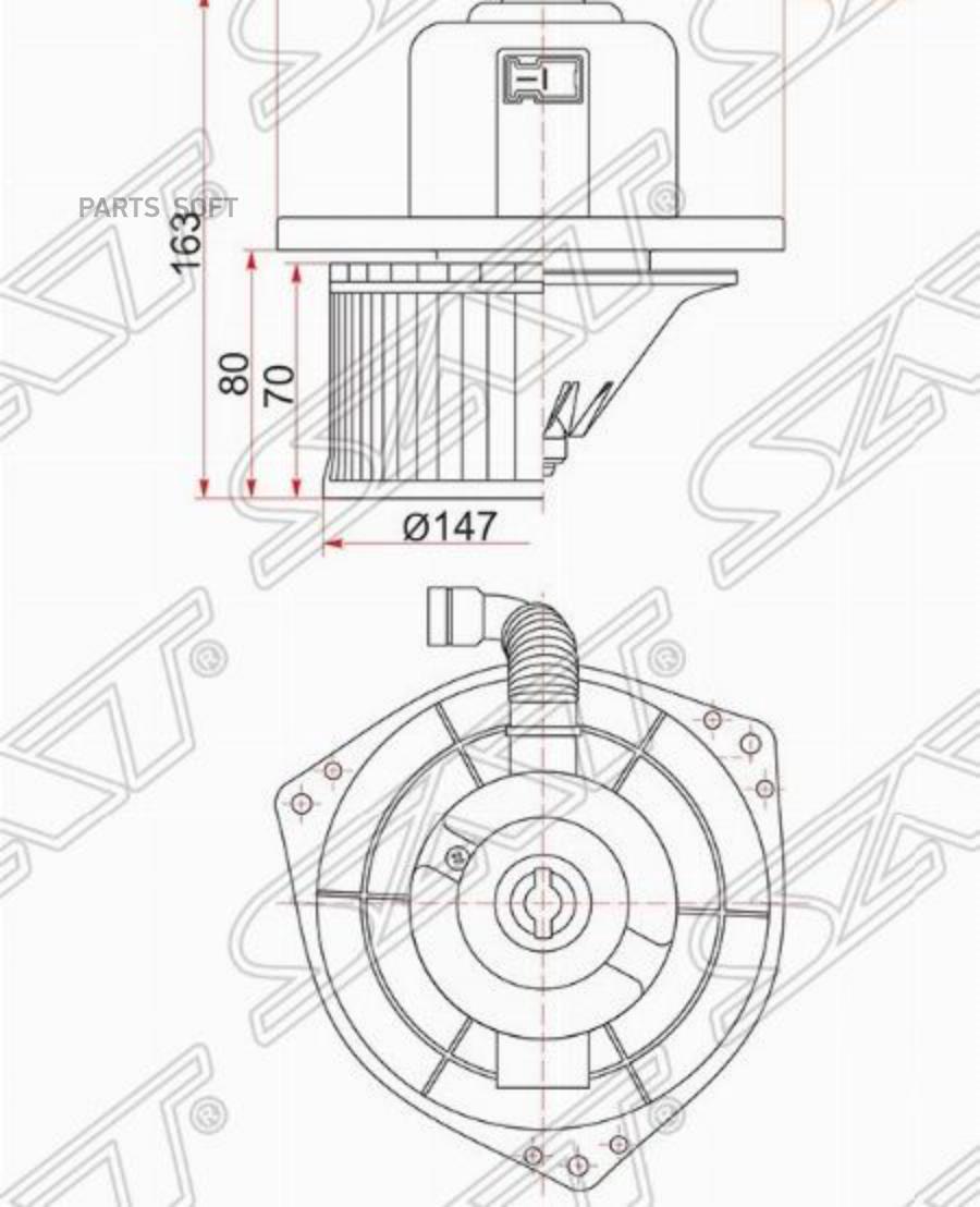 Мотор отопителя салона MITSUBISHI PAJERO / MONTERO SPORT 96-08 / CHALLENGER K9# RHD 96-01