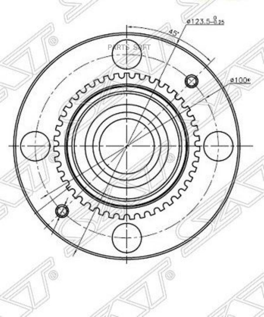 Ступичный узел задн.MMC MIRAGE DINGO 98- / LANCER CEDIA 00- 4x100