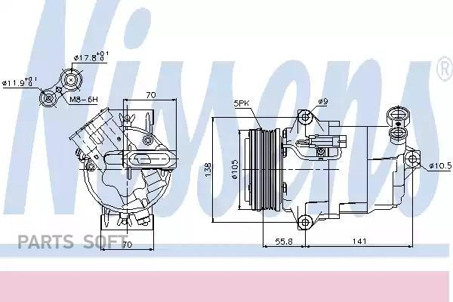 Компрессор кондиционера OPEL ASTRA G кабрио 03-05,ASTRA G купе (F07_) 00-05,ASTRA G Наклонная задняя час DENSO DCP20044