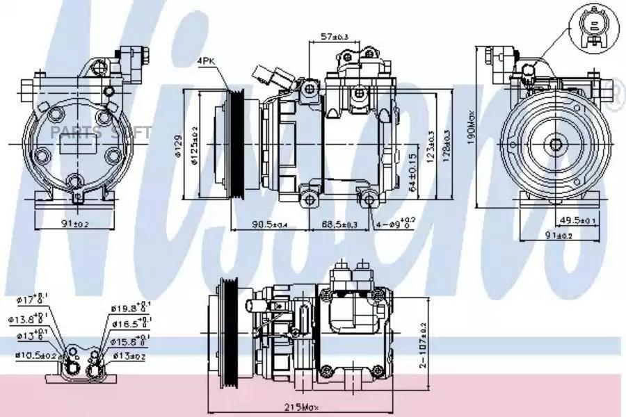 Ремкомплект компрессора HYUNDAI ACCENT II (LC) 02-05,ACCENT III (MC) 05-,ACCENT седан (LC) 02-05,ACCENT  MSG RK0032