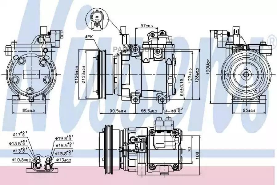 Компрессор кондиционера HYUNDAI COUPE (GK) 02-09,ELANTRA (XD) 00-06,ELANTRA седан (XD) 00-06,MATRIX (FC) MSG AC0125