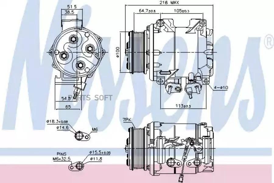 Компрессор кондиционера HONDA CR-V II (RD_) 02-06 MSG AC0006