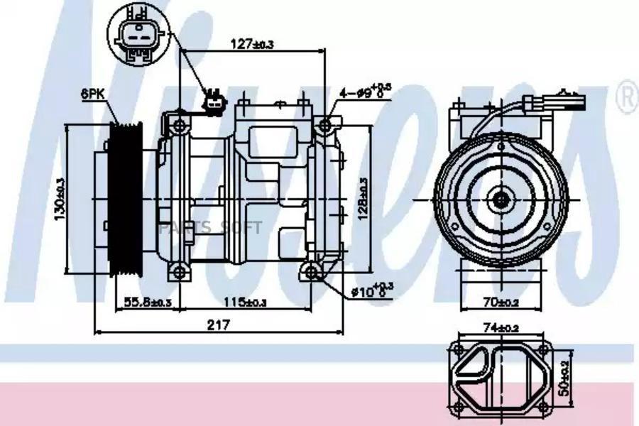 Компрессор кондиционера JEEP GRAND CHEROKEE I (ZJ) 91-99 DENSO DCP99001
