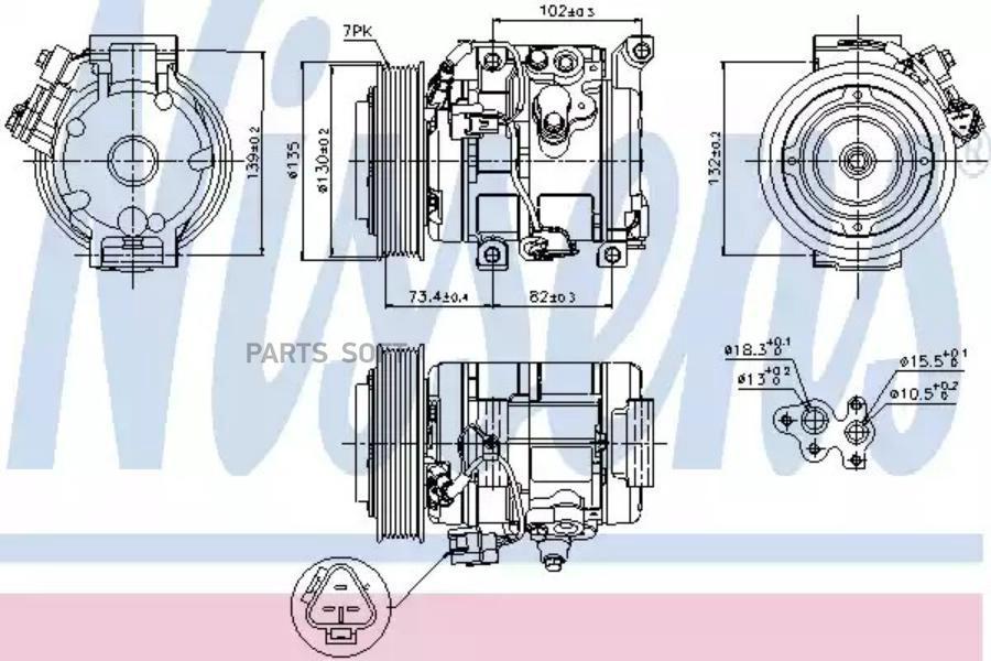 Компрессор кондиционера TOYOTA RAV 4 II (CLA2_, XA2_, ZCA2_, ACA2_) 00-05,RAV 4 Mk II (CLA2_, XA2_, ZCA2 DENSO DCP50033
