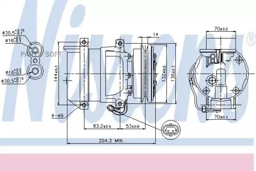 Ремкомплект компрессора CHEVROLET AVEO седан (T250, T255) 06-,KALOS 05-,KALOS седан 05-,LACETTI (J200) 0 MSG RK0004