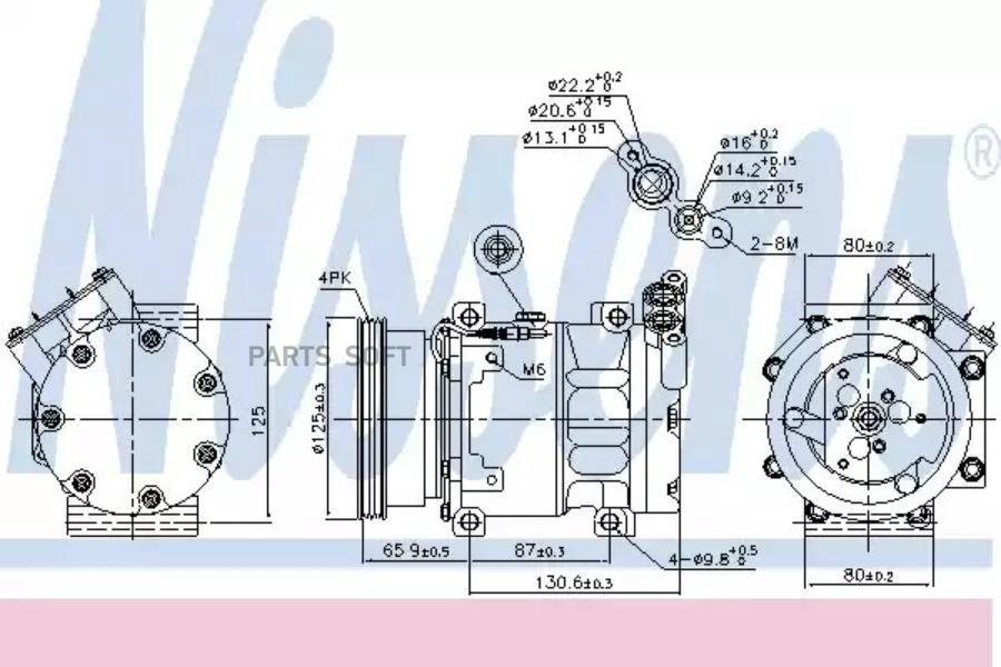 Компрессор кондиционера DACIA LOGAN (LS_) 04-,LOGAN EXPRESS (FS_) 09-,LOGAN MCV (KS_) 07-,LOGAN пикап (U DENSO DCP37001