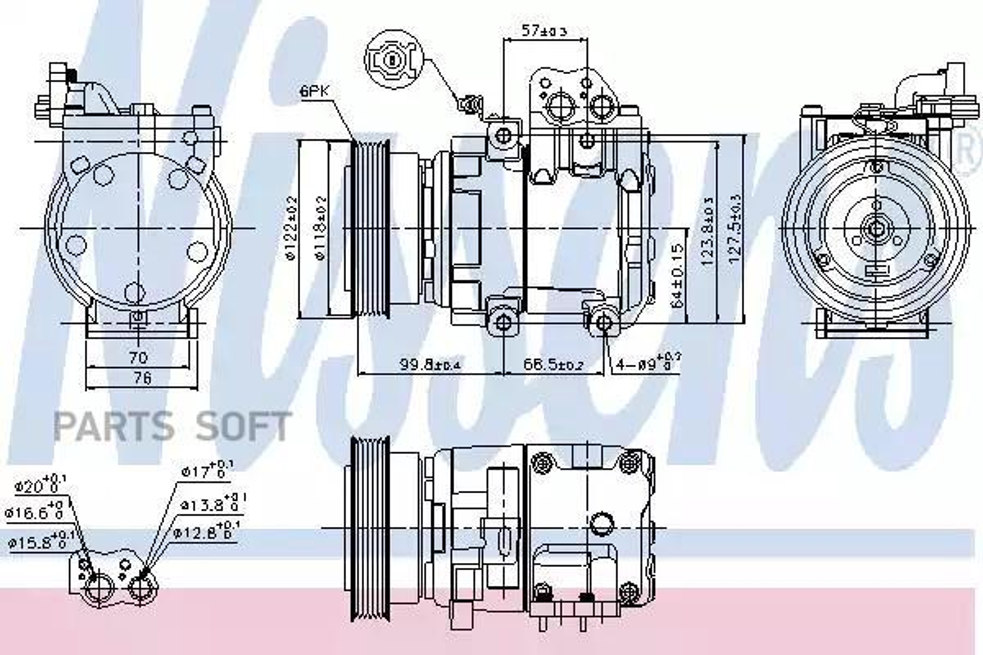 Компрессор кондиционера HYUNDAI ELANTRA (XD) 00-06,TUCSON (JM) 04-10;KIA CARENS II (FJ) 02-,PICANTO (BA) MSG AC0127