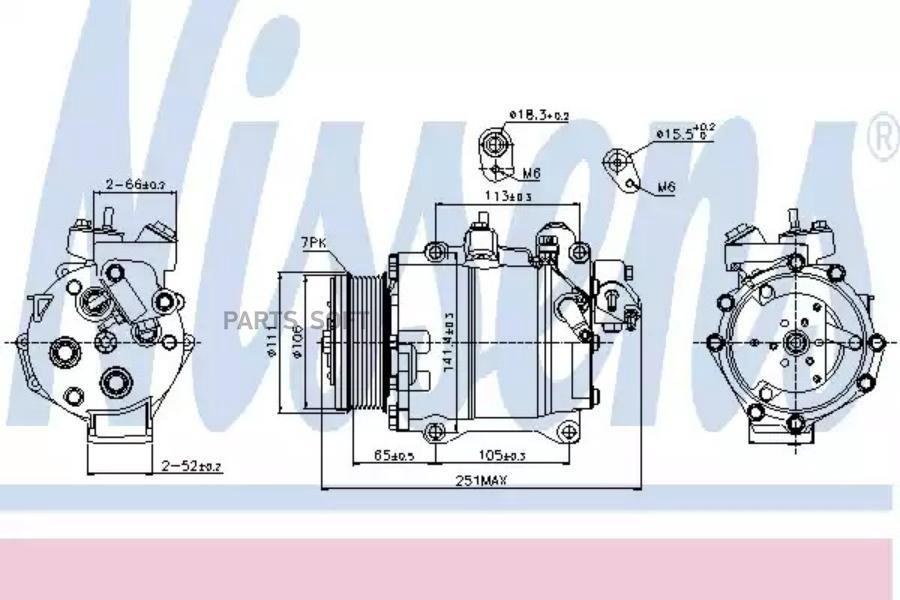 Компрессор кондиционера HONDA CR-V III (RE) 06-н.в. MSG AC0004