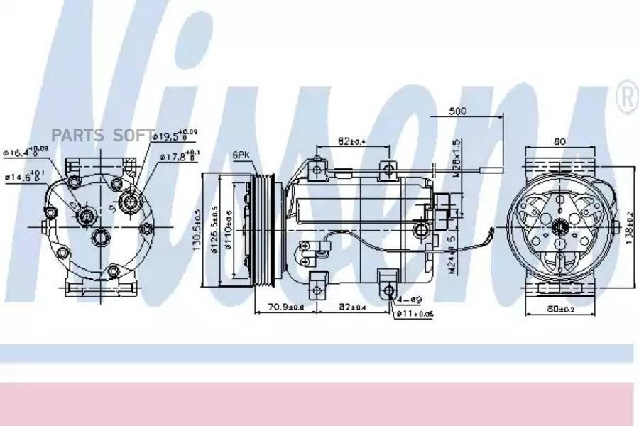 Компрессор кондиционера AUDI 100 (4A, C4) 90-94,100 Avant (4A, C4) 90-94,80 (8C, B4) 91-94,80 Avant (8C, DENSO DCP02020