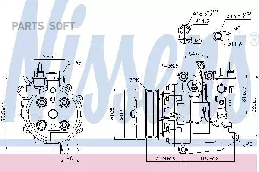 Компрессор кондиционера HONDA CR-V III (RE) 07-12 MSG AC0003