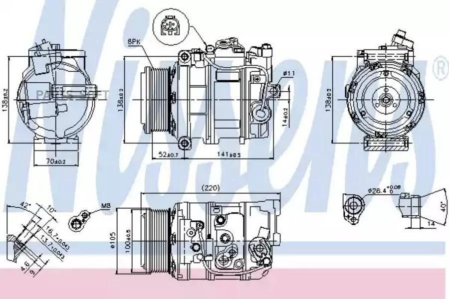 Ремкомплект компрессора AUDI A3 (8L1) 00-03,A3 (8P1) 03-12,A3 Sportback (8PA) 04-10,A3 кабрио (8P7) 08-, MSG RK0001