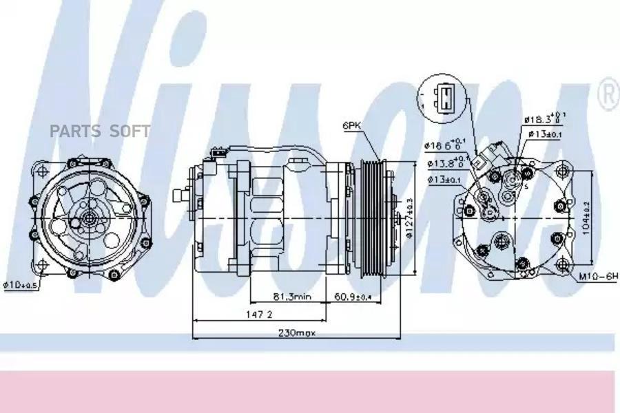 Шкив компрессора MSG KP-1106