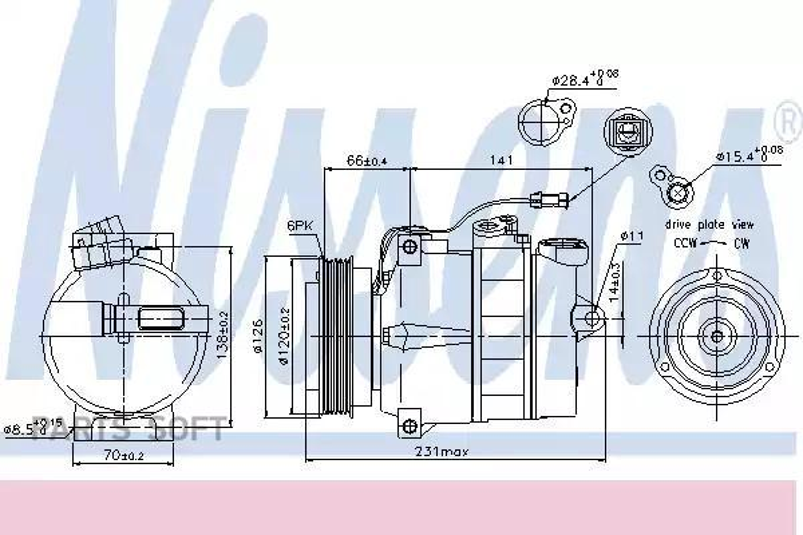 Компрессор кондиционера PORSCHE 911 Carrera 98-08,911 (996) 97-05,911 (997) 04-12,911 кабрио (996) 98-05 DENSO DCP28008