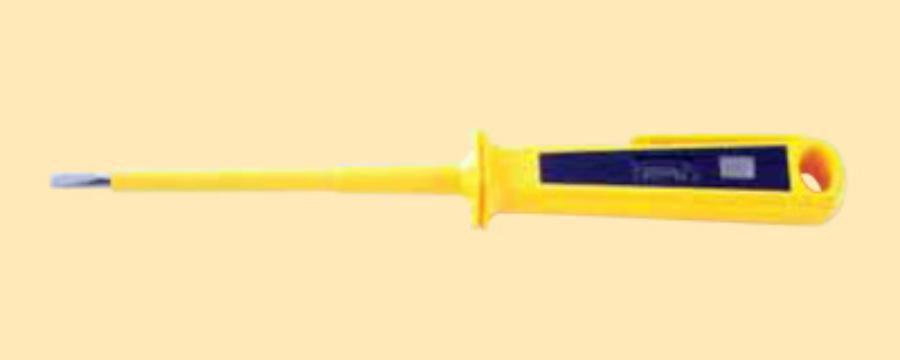 Пробник напряжения 110-250В (~), жёлтый корпус,жало отвертка (шт.)