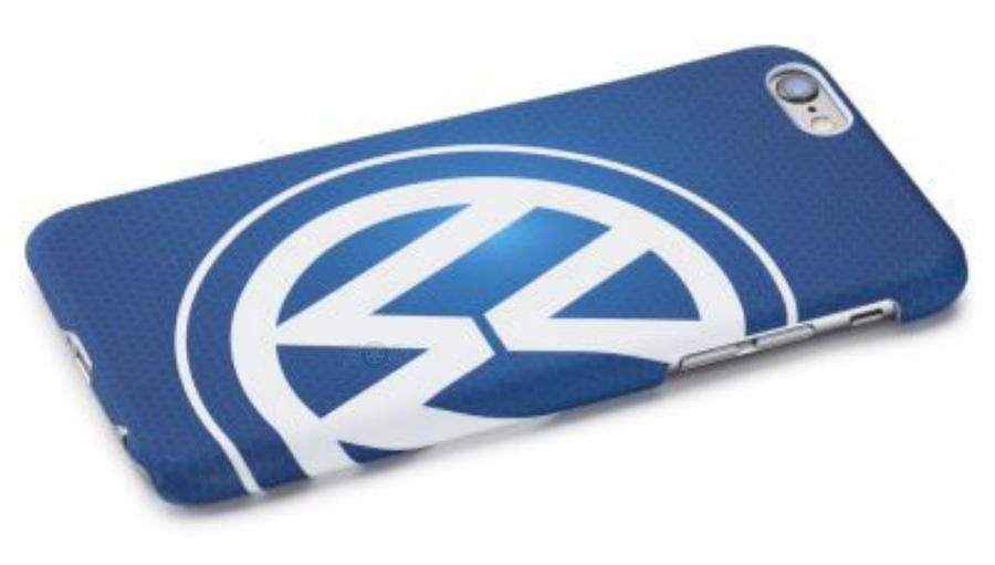 Чехол Volkswagen Logo iPhone 6/6S Cover Blue VAG