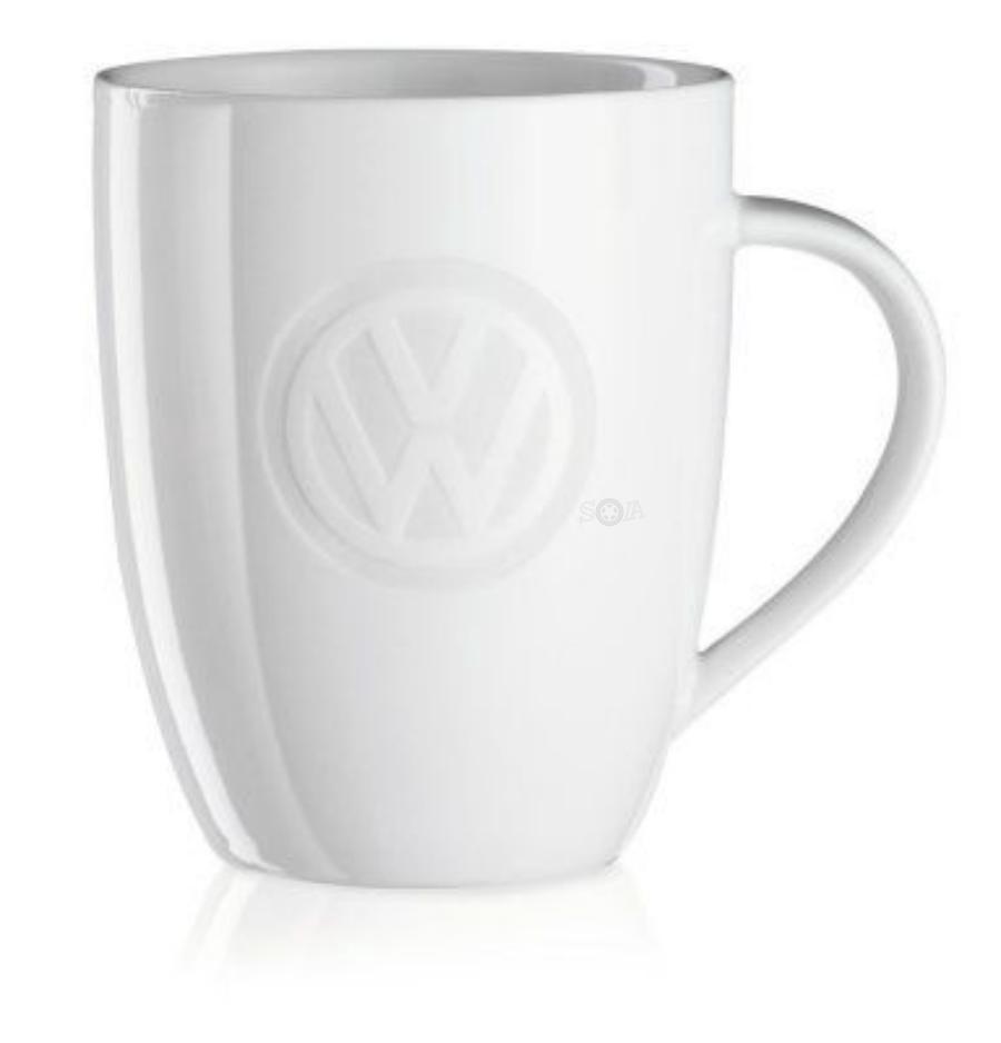 Фарфоровая кружка Volkswagen Porcelain Mug White Logo